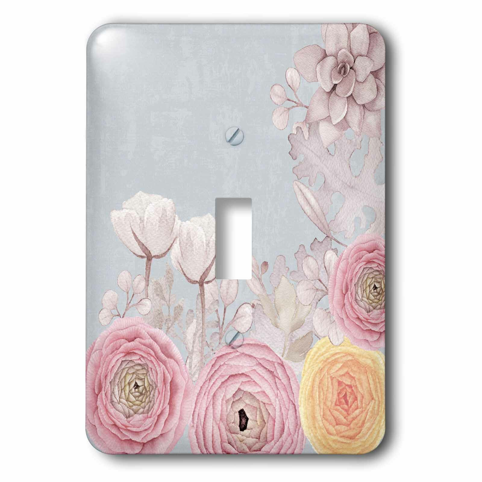 3drose Pastel Flowers 1 Gang Toggle Light Switch Wall Plate Wayfair