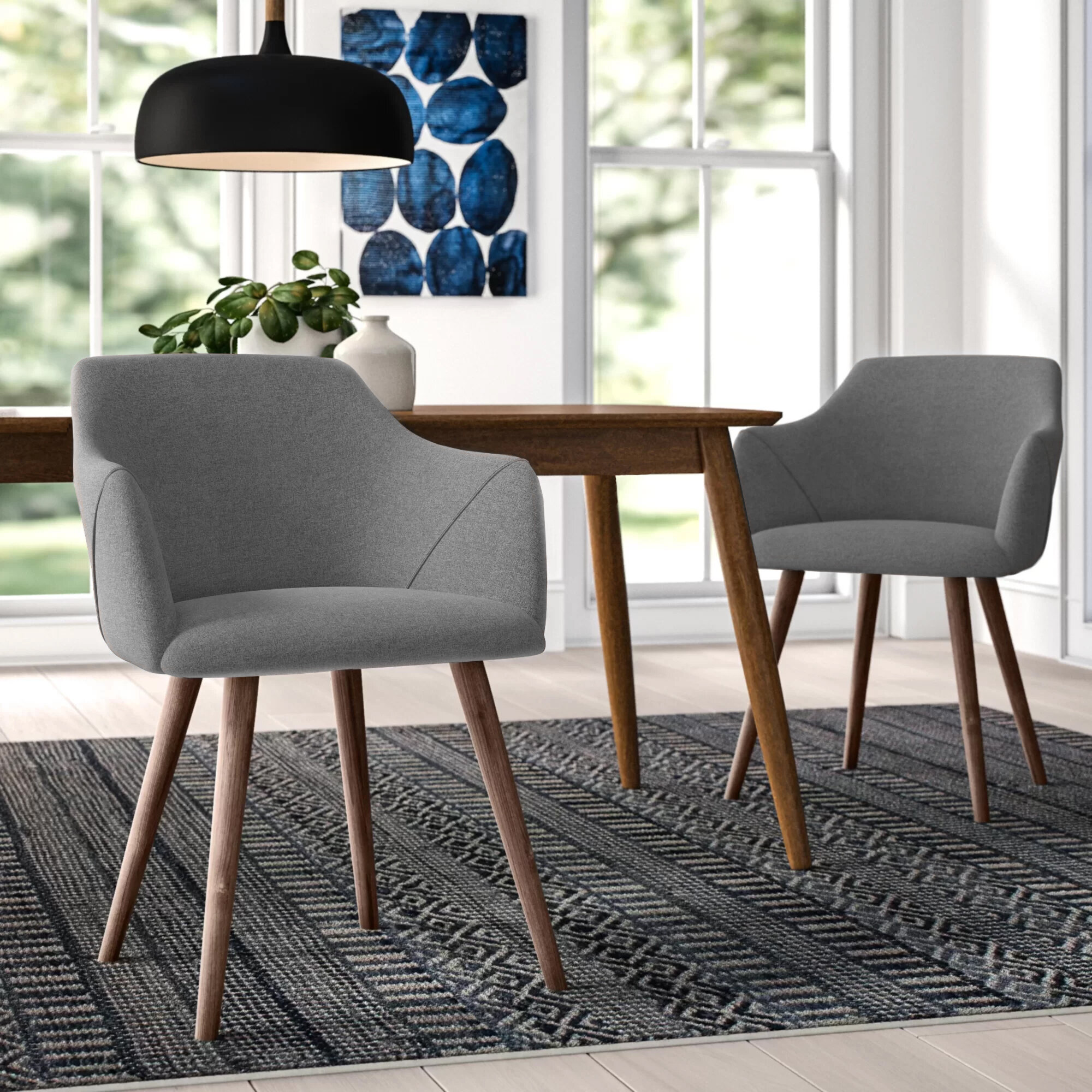 Brie Solid Wood Upholstered Dining Chair Reviews Allmodern