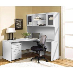 Latitude Run Buragate 3 Piece Office Set with Hutch