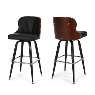Skegness Adjustable Height Bar Stool (Set of 2) by Orren Ellis