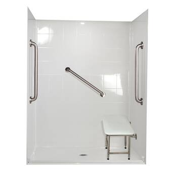 Maax Inc Camelia 60 W X 79 H Framed Rectangle Shower Stall With Seat And Base Included Wayfair