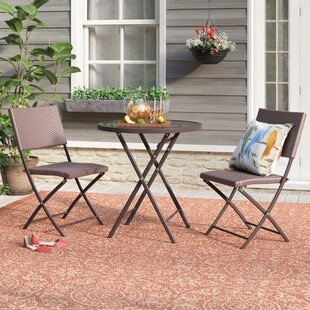 Lybarger 3 Piece Metal Bistro Set by Charlton Home