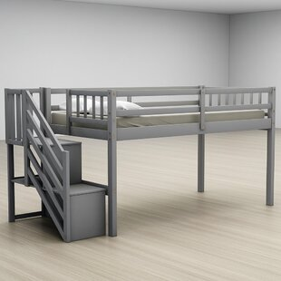 Charlestown Twin Low Loft Bed with Shelves by Isabelle amp Max