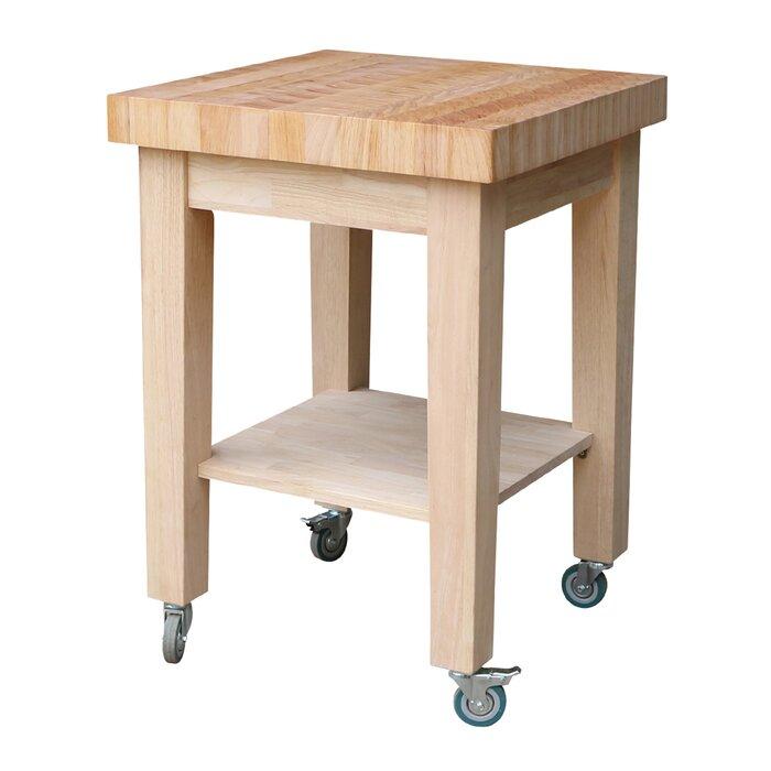 Cuthbert Kitchen Cart with Butcher Block