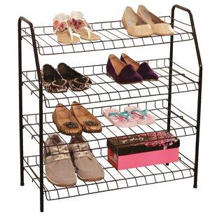 Read Reviews 16 Pair Stackable Shoe Rack ByAbove Edge Inc.