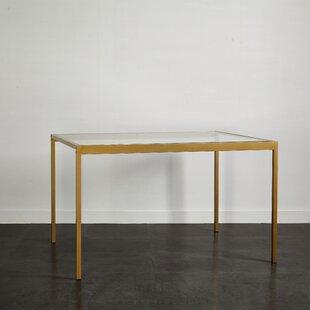 Kara Glass And Metal Dining Table