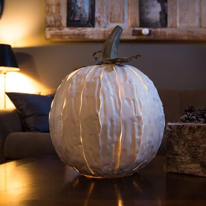 Squatty White Pumpkin Luminary