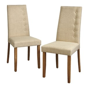 Charlton Home Langner Upholstered Dining Chair (Set of 2)