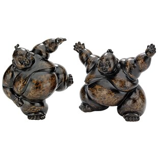 Design Toscano 2 Piece Full Contact Sumo Wrestler Statues
