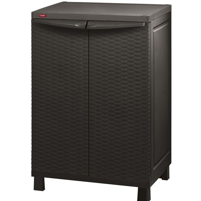 "Keter 39"" H x 26"" W x 18"" D Rattan Storage Cabinet ..."