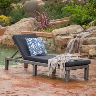 Furst Chaise Lounge with Cushion by Wade Logan