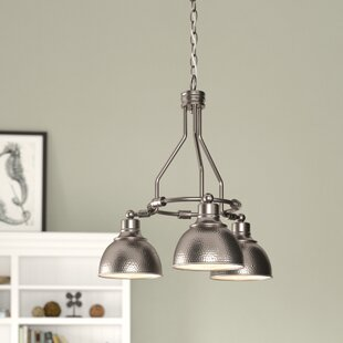 Great choice Bridgepointe 3-Light Shaded Chandelier By Beachcrest Home