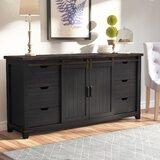 Westhoff 70 Wide 6 Drawer Pine Wood Sideboard by Gracie Oaks