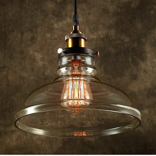 Affordable Esmie 1-Light Inverted Pendant By Warehouse of Tiffany