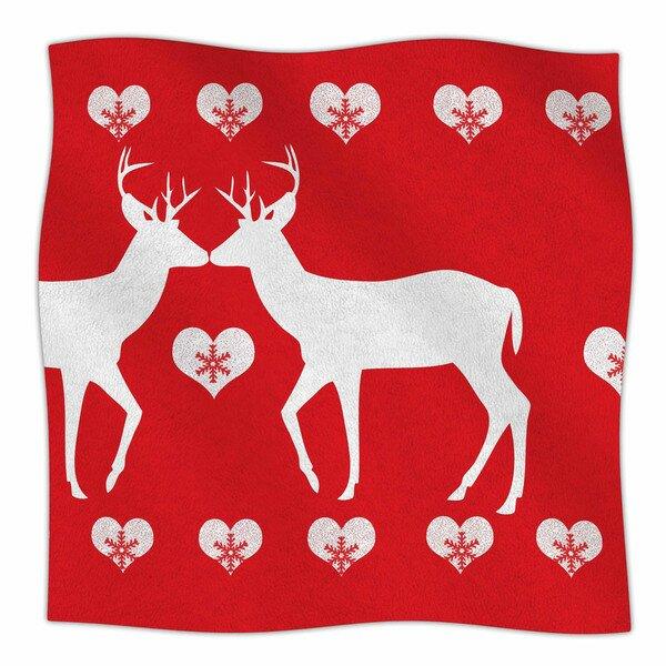 27ab44e39b East Urban Home Christmas Deer 2 by Suzanne Carter Fleece Blanket ...
