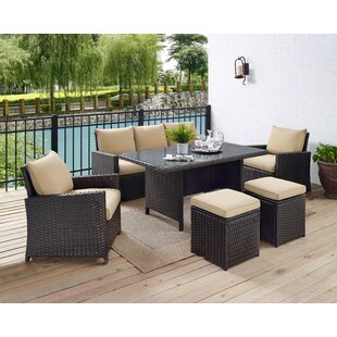 Zeringue 6 Piece Outdoor Sofa Set with Cushions