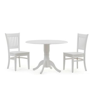Thornhill 3 Piece Drop Leaf Solid Wood Dining Set Alcott Hill