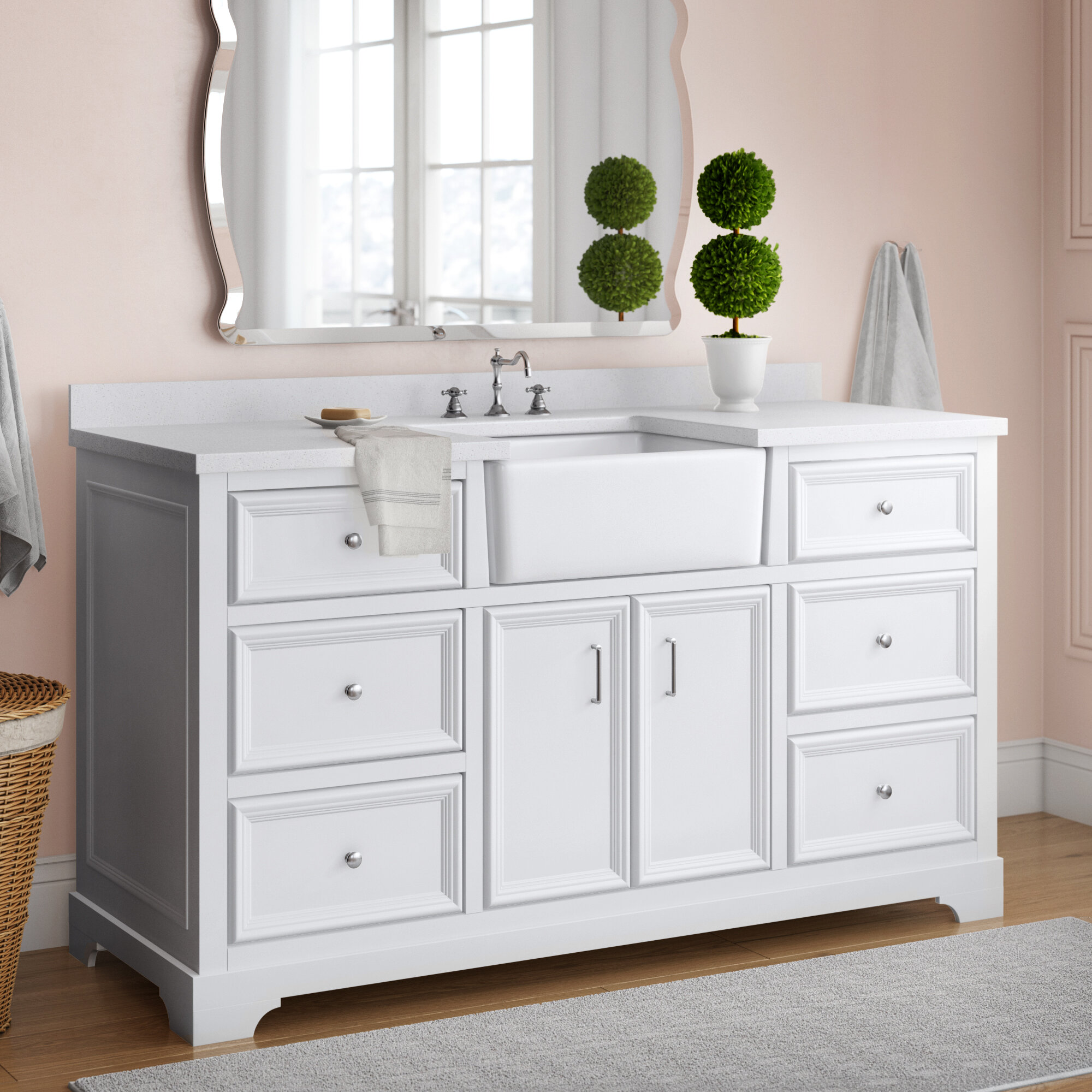 """Heath 9"""" Single Bathroom Vanity Set"""