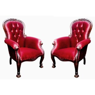 Astoria Grand Bliven French Grandfather Armchair (Set of 2)