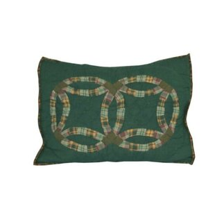 Green Double Wedding Ring Pillow Sham