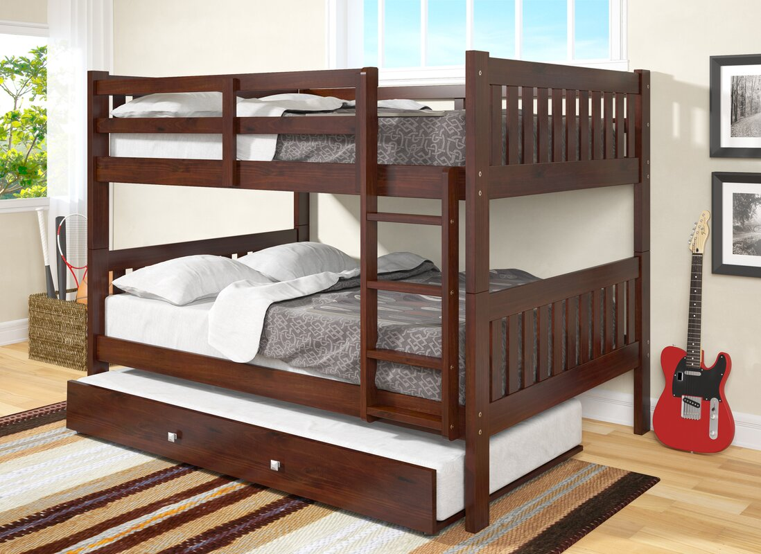 Marvelous Full Bunk Bed With Trundle Part - 10: Full Over Full Bunk Bed With Trundle