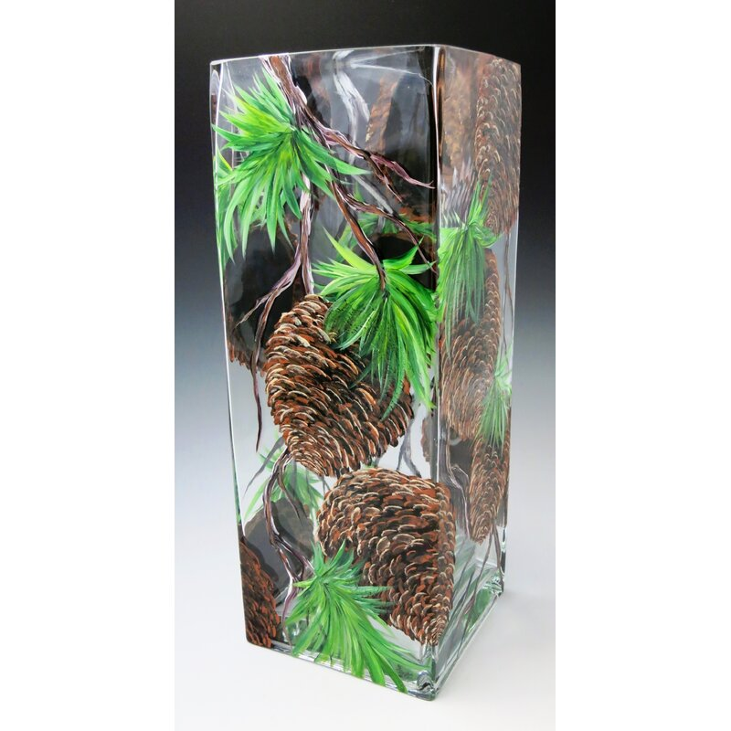 Christinashandpainted Pinecone Vase Wayfair