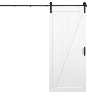 Classic Z Solid Panel Wood Slab Interior Barn Door by Dogberry Collections