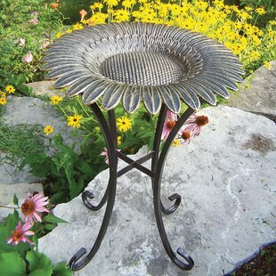 Oakland Living Sunflower on Tower Base Birdbath