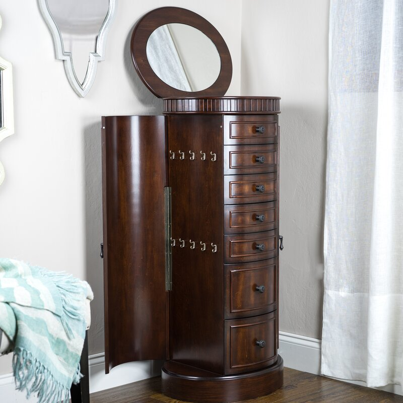 Hives Honey Bailey Jewelry Armoire with Mirror Reviews Wayfair