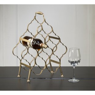 Krahn Brushed 8 Bottle Tabletop Wine Rack..