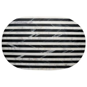 Old Hollywood Striped Marble Serving Tray