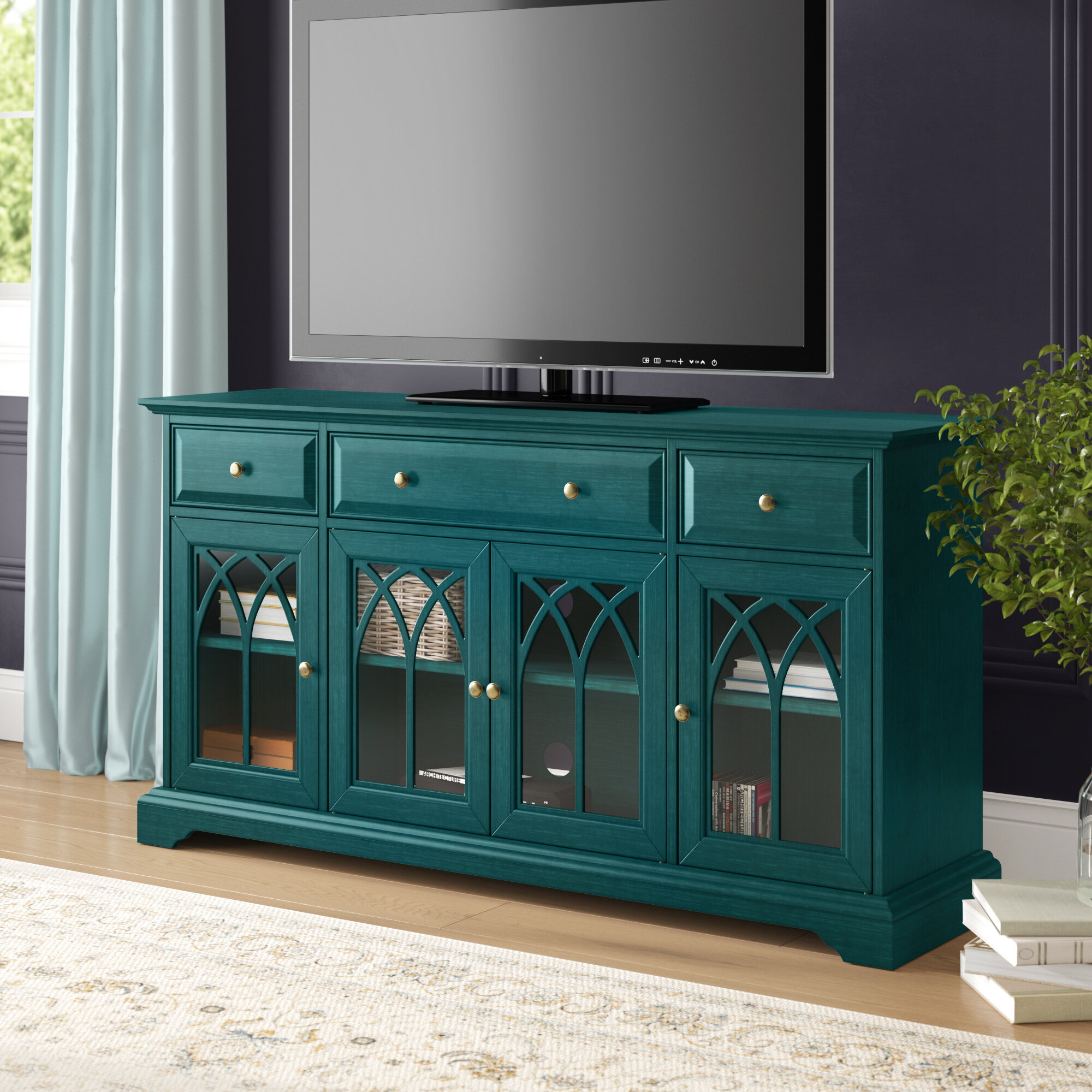 Canora Grey Vitiello Tv Stand For Tvs Up To 65 Reviews Wayfair