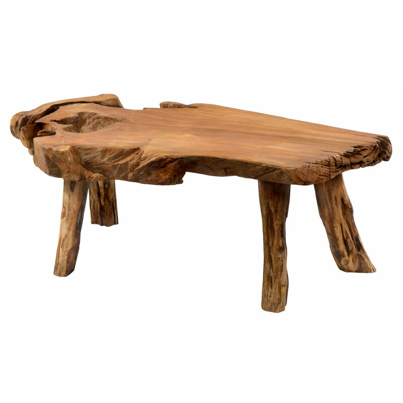 Natural Wood Coffee Table.Zirkel Solid Wood Coffee Table