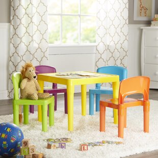 Jabari Kids 5 Piece Writing Table and Chair Set by Viv + Rae
