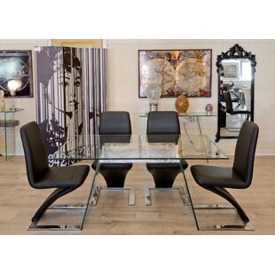Review Eddington Dining Set With 4 Chairs