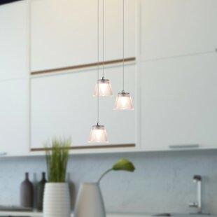Atkin 3-light LED Cluster Pendant by Orren Ellis