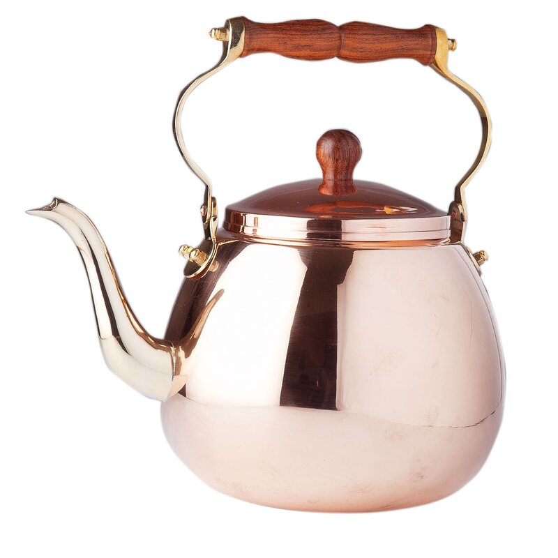 Copper 4-qt. Solid Tea Kettle