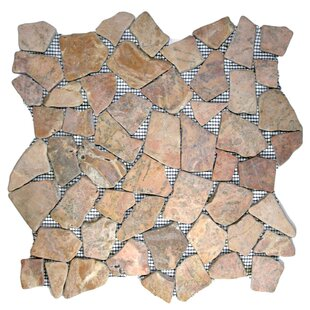 Buru Random Sized Natural Stone Mosaic Tile in Red
