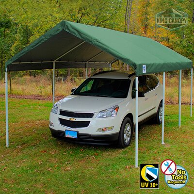 Hercules 11 Ft. W x 20 Ft. D Steel Party Tent King Canopy Color: Green