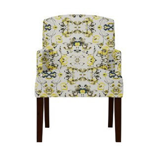 Arturo Yellow Flowers Arm Chair by Langle..