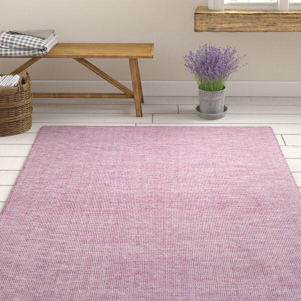 Ophelia Co Dario Handmade Flatweave Wool Cotton Dark Purple Ivory Area Rug Wayfair