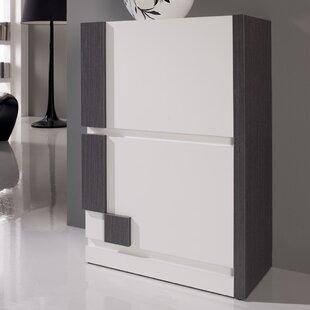 Minnesota 16-Pair Shoe Storage Cabinet By Ebern Designs
