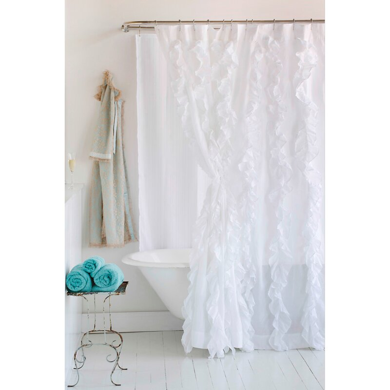 Amity Home Tuxedo Luxury Solid Sheer Single Cotton Curtain Panel