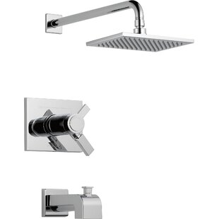 Delta 17T Series Tub and Shower Faucet Trim with Lever Handles and TempAssure