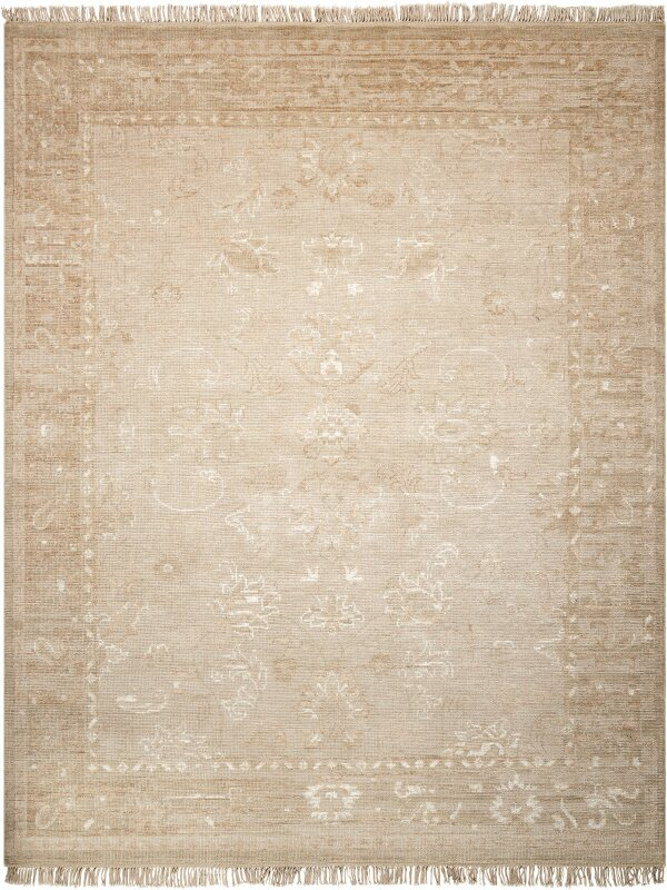 Bungalow Rose Haddou Hand Knotted Wool Gold Area Rug Wayfair