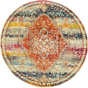 Newton Orange Area Rug by World Menagerie