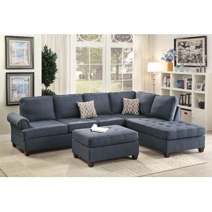 Bobkona Azura Reversible Sectional by Poundex Fresh