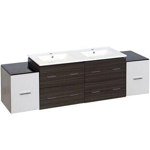 Kyra 76 6 Drawer Double Bathroom Vanity by Orren Ellis