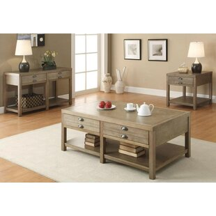 Loon Peak Wightman 3 Piece Coffee Table Set