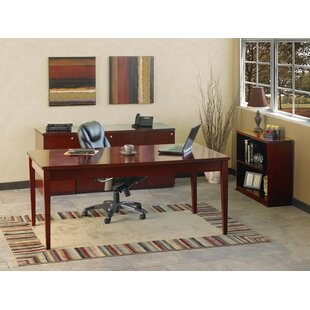 Affordable Luminary Series 4-Piece Standard Desk Office Suite ByMayline Group
